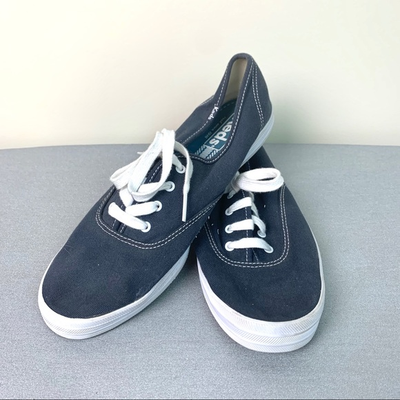 Keds Shoes   Navy Blue And White Lace